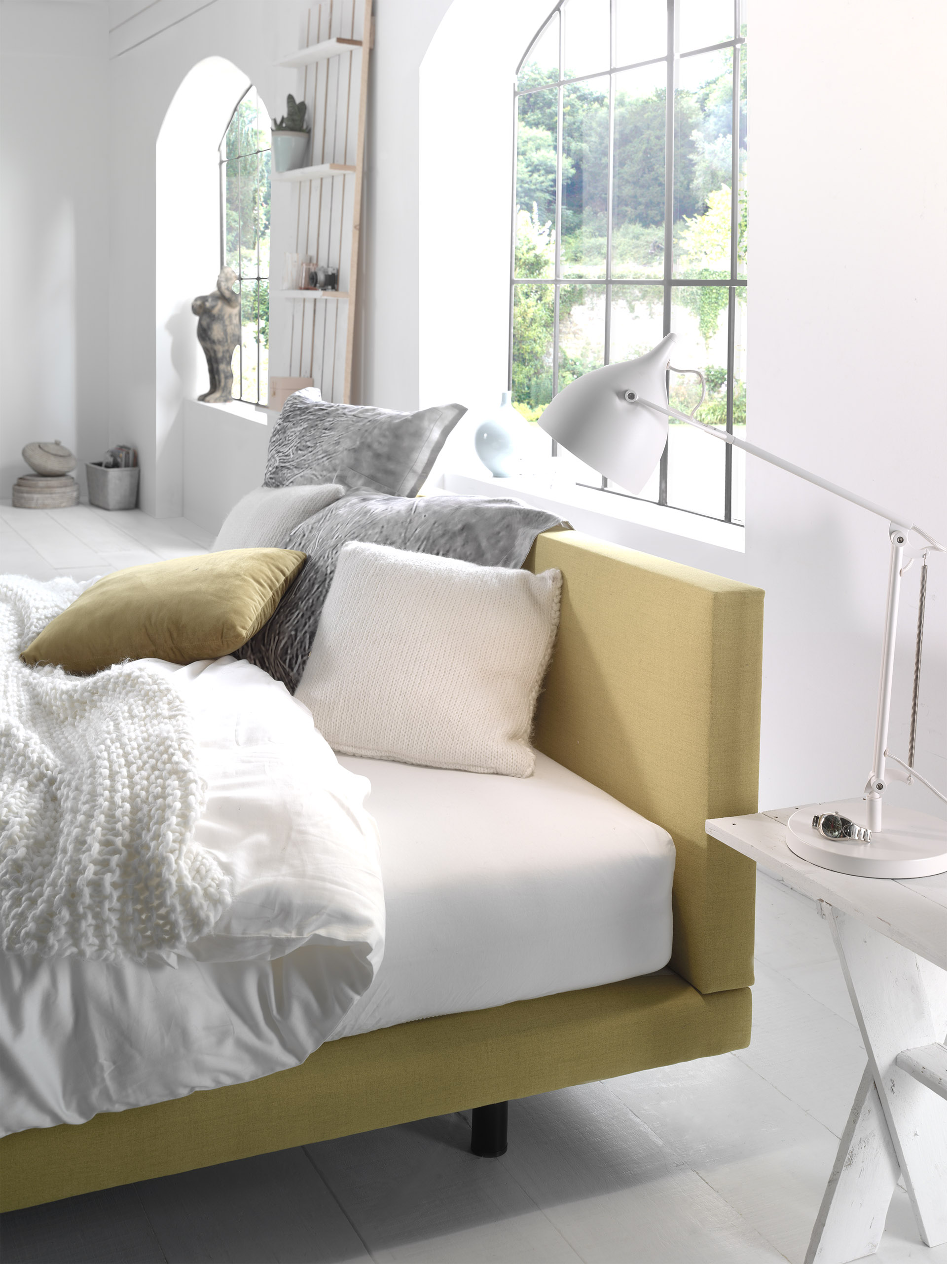 Boxspring, Lewis, slapen, bed, comfort, matras, hoofdbord, detail