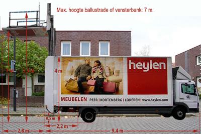 maten vrachtwagen